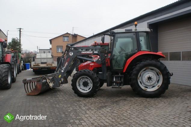 Ciągniki rolnicze MASSEY FERGUSON 5455+ŁADOWACZ FAUCHEUX Renault  - zdjęcie 2