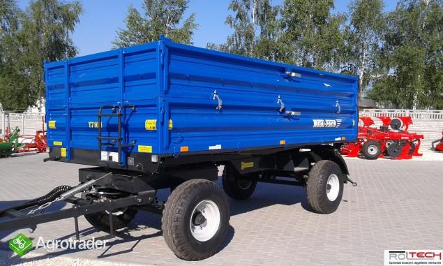Przyczepa rolnicza dwuosiowa Metal-Fach 6 ton T 710 - zdjęcie 1