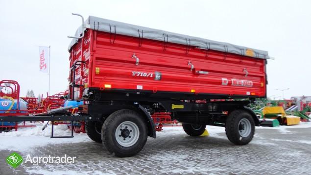 Przyczepa rolnicza dwuosiowa Metal-Fach 6 ton T 710 - zdjęcie 5