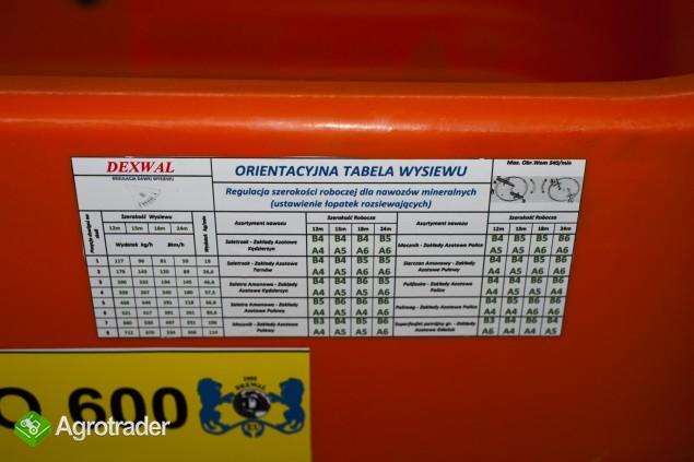 Rozsiewacz Nawozów Tornado 600L/850kg LIFT DEXWAL AGRO-ACTIV - zdjęcie 6
