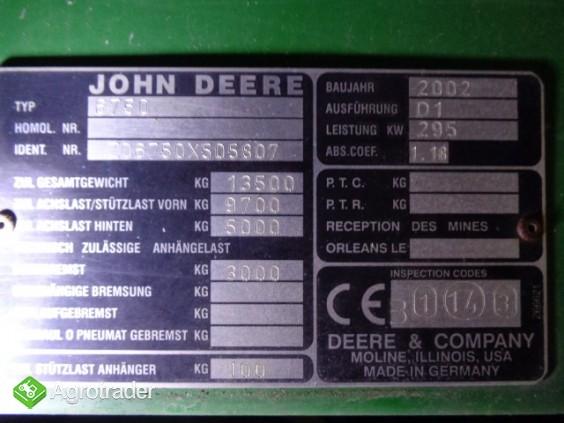 John Deere 6750 - zdjęcie 5