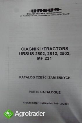 Katalog części zamiennych MF 231, URSUS 2802,2812,3502