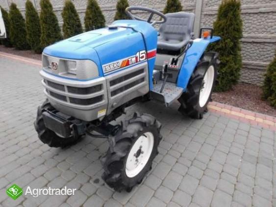 Iseki TM15 15KM 4x4 mini traktor traktorek ładowarka Kubota Yanmar  - zdjęcie 1