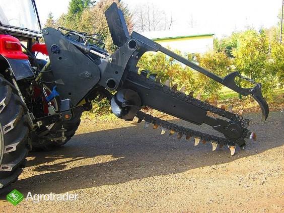 Koparka łańcuchowa napędzane z ciągnika rolniczego 220 cm