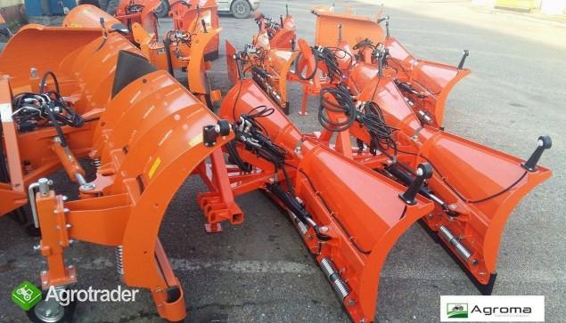 Pług składany do odśnieżania odśnieżarka nowy 2m do śniegu do traktora - zdjęcie 3
