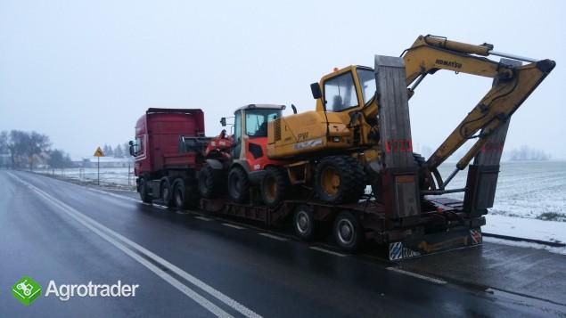 Transport koparek ładowarek maszyn  JCB KOMATSU DOOSAN - zdjęcie 1