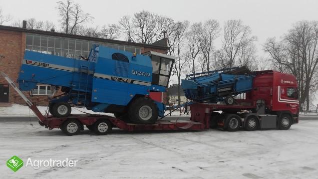 Transport kombajnów sieczkarni maszyn Claas Fent MF Holland Bizon - zdjęcie 1