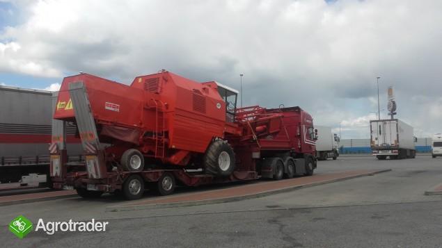 Transport kombajnów sieczkarni maszyn Claas Fent MF Holland Bizon - zdjęcie 3