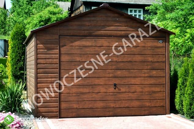 GARAŻE BLASZANE imitacja drewna Nowość Garaż blaszany dowolny wymiar  - zdjęcie 1