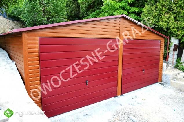 GARAŻE BLASZANE imitacja drewna Nowość Garaż blaszany dowolny wymiar  - zdjęcie 4