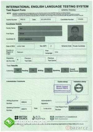 Kupuj zarejestrowane certyfikaty IELTS bez udziału w egzaminie