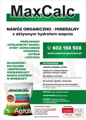 Wapno organiczne, nawóz wapniowo organiczny II generacji z aktywnym hy