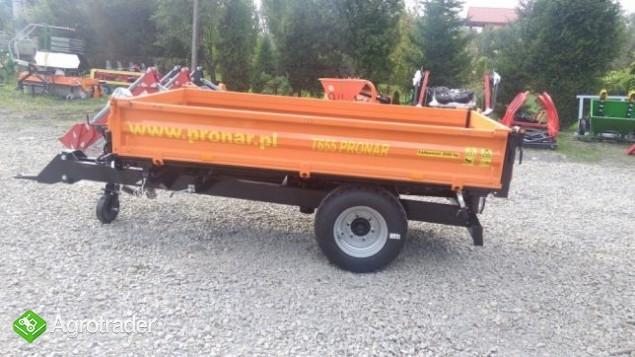 Przyczepa PRONAR T655 jednoosiowa 2t komunalna Promocja - zdjęcie 2