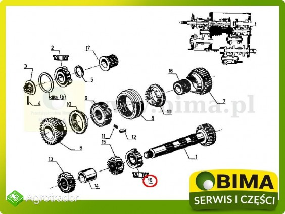 Łożysko skrzyni biegów Renault CLAAS 133-14,145-14,782 - zdjęcie 2