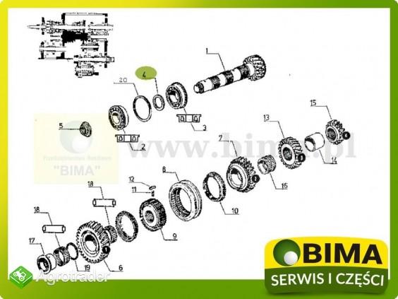 Podkładka skrzyni biegów Renault CLAAS 145-54,155-54 - zdjęcie 1