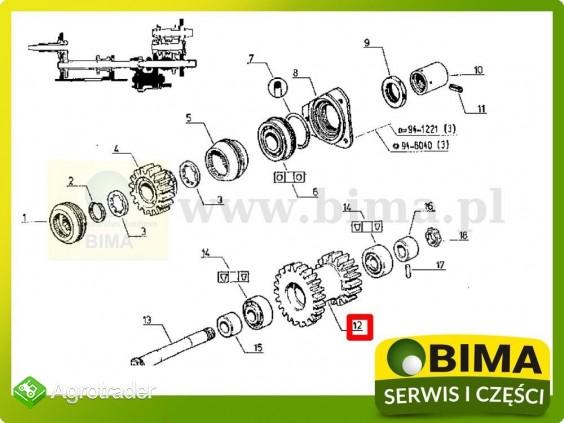 Używane koło zębate wom z16/21 Renault CLAAS 954 MI - zdjęcie 3