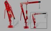 Dźwig - żuraw hydrauliczny 900 kg / 360°