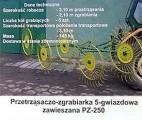 Przetrząsaczo-zgrabiarka 5cio gwiazdowa zawieszana